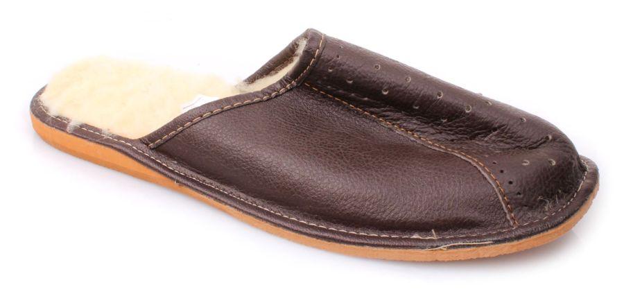 8befe05fd1bcb Pantofle męskie brązowe 20zl 011804 r. 41