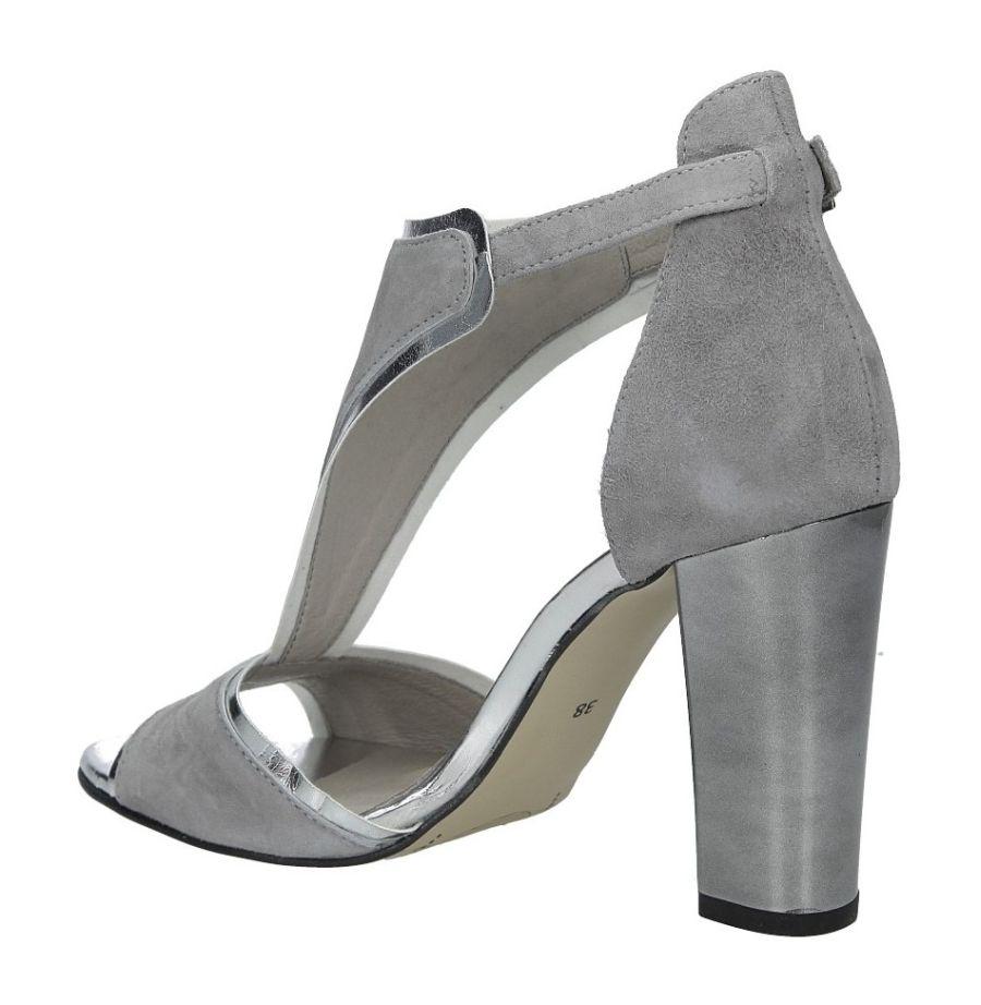 49298754663fa Karino 2563/002-P sandały damskie szare srebrne sandał damski szary ...