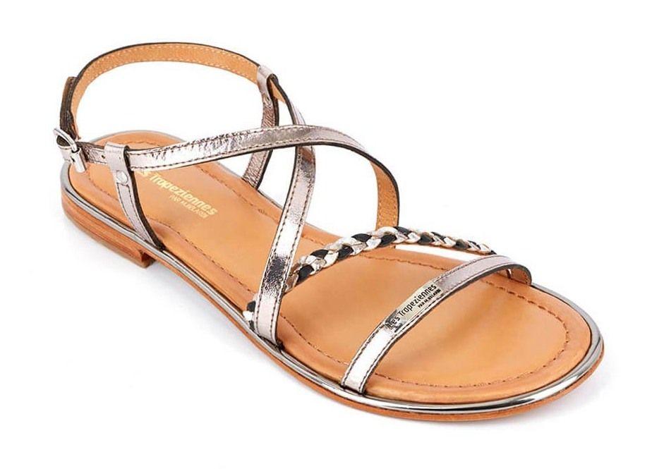 Les Tropeziennes 19257 HALEY sandały damskie srebrne