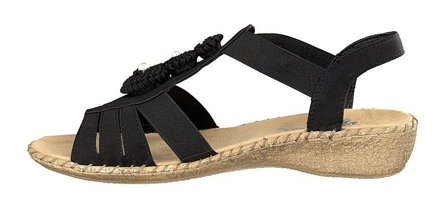 Sandały damskie Rieker 61695 00 black