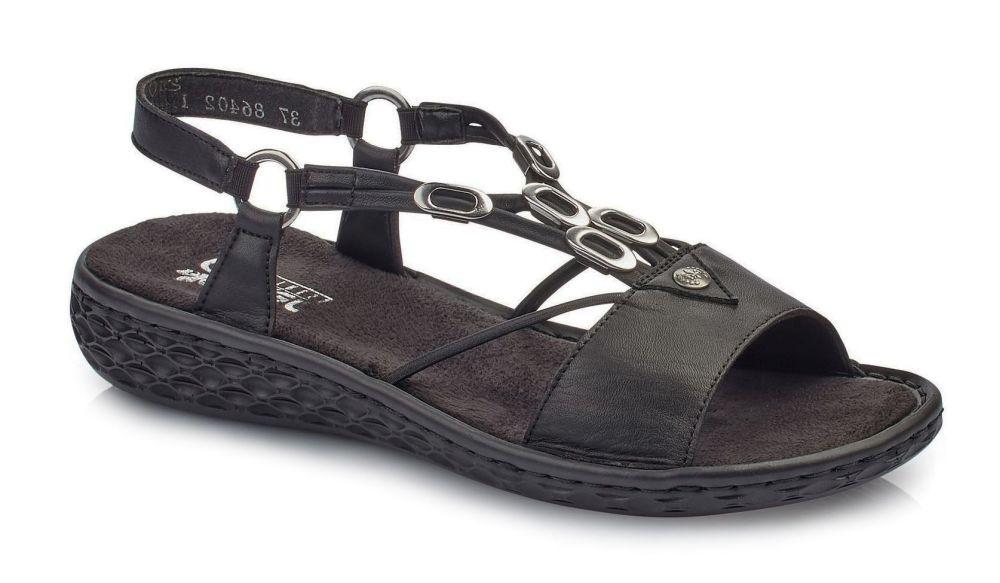122f8282c102e Rieker V22L9-00 BLACK sandały damskie czarne sandał damski czarny