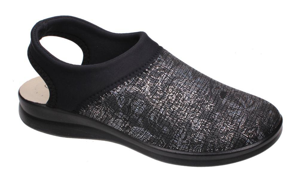 a22060b9 Sanital Flex 8232.36 BLACK sandały damskie zdrowotne czarne