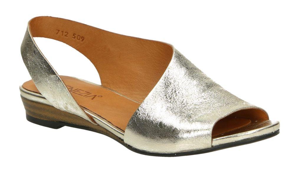 3173dde687153 Venezia 712509 GO W19 sandały damskie złote beżowe sandał damski złoty